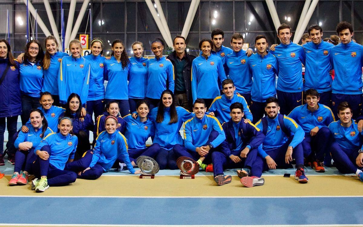 El Barça d'atletisme guanya el Campionat de Catalunya d'equips en nois i noies