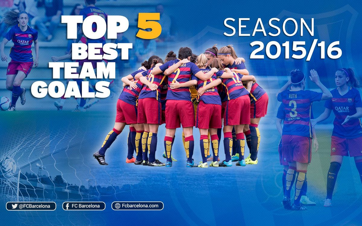 Top moments of teamwork turned into goals by FC Barcelona women