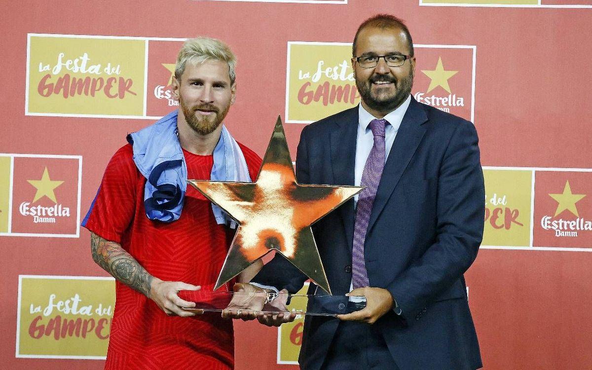 Leo Messi, MVP i màxim golejador dels Gamper