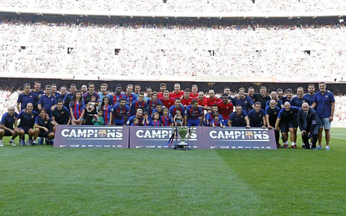 El FC Barcelona ofereix la Lliga 2015/2016 al Camp Nou