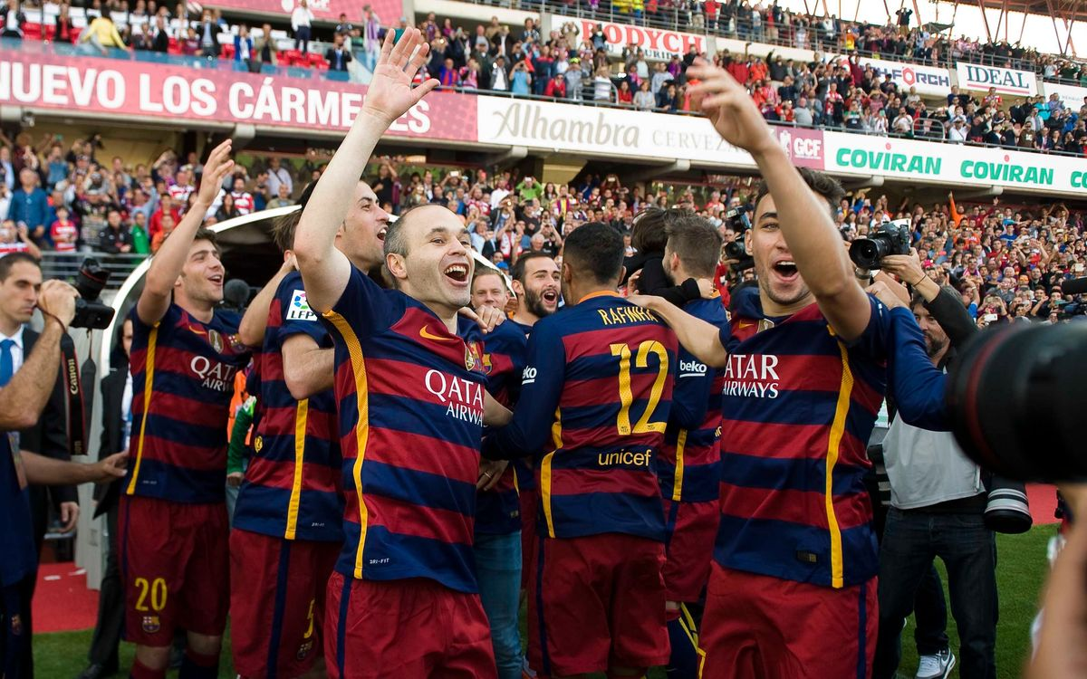 In Granada, FC Barcelona clinch La Liga title on the road for the tenth time