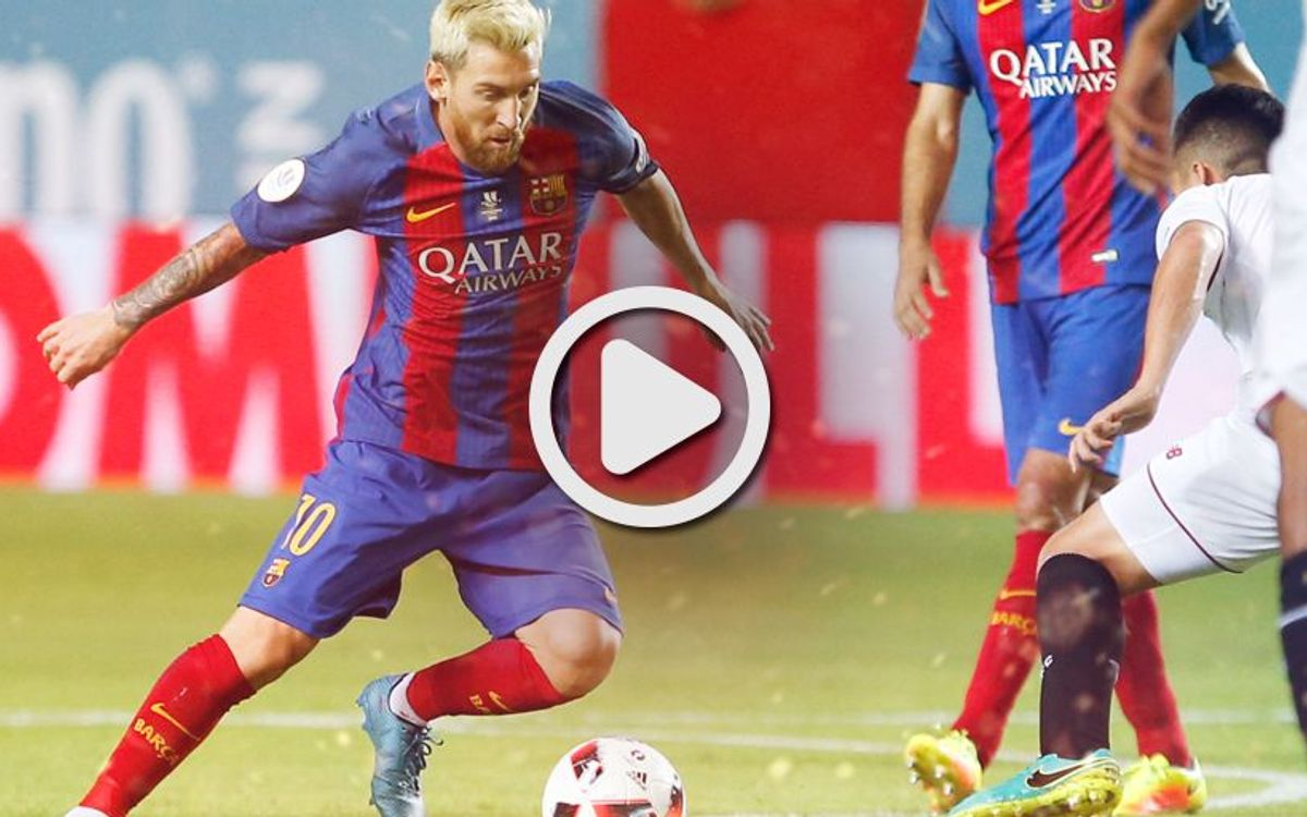 Spanish Super Cup video highlights: Sevilla FC v FC Barcelona