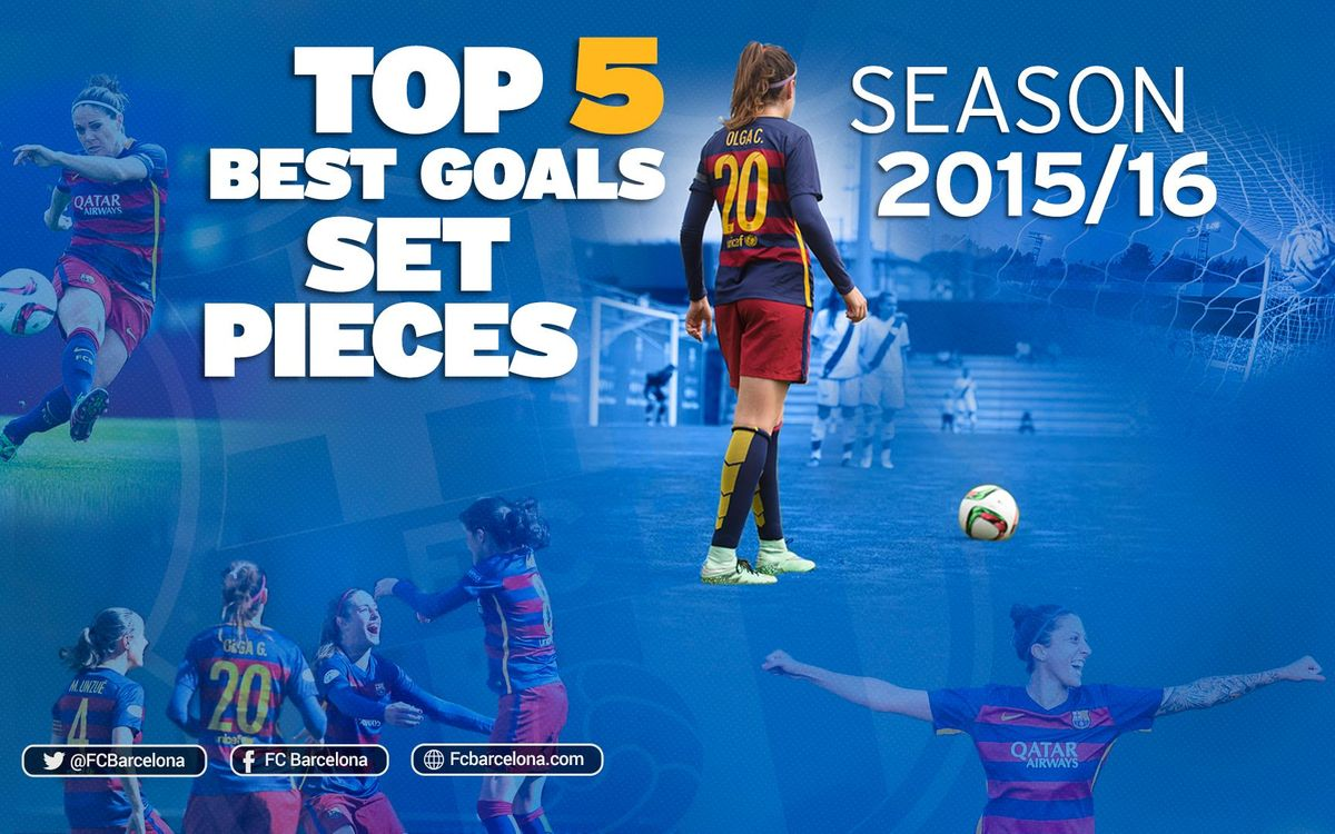 The five best set piece goals scored by the FC Barcelona Women's team in the 2015/16 season