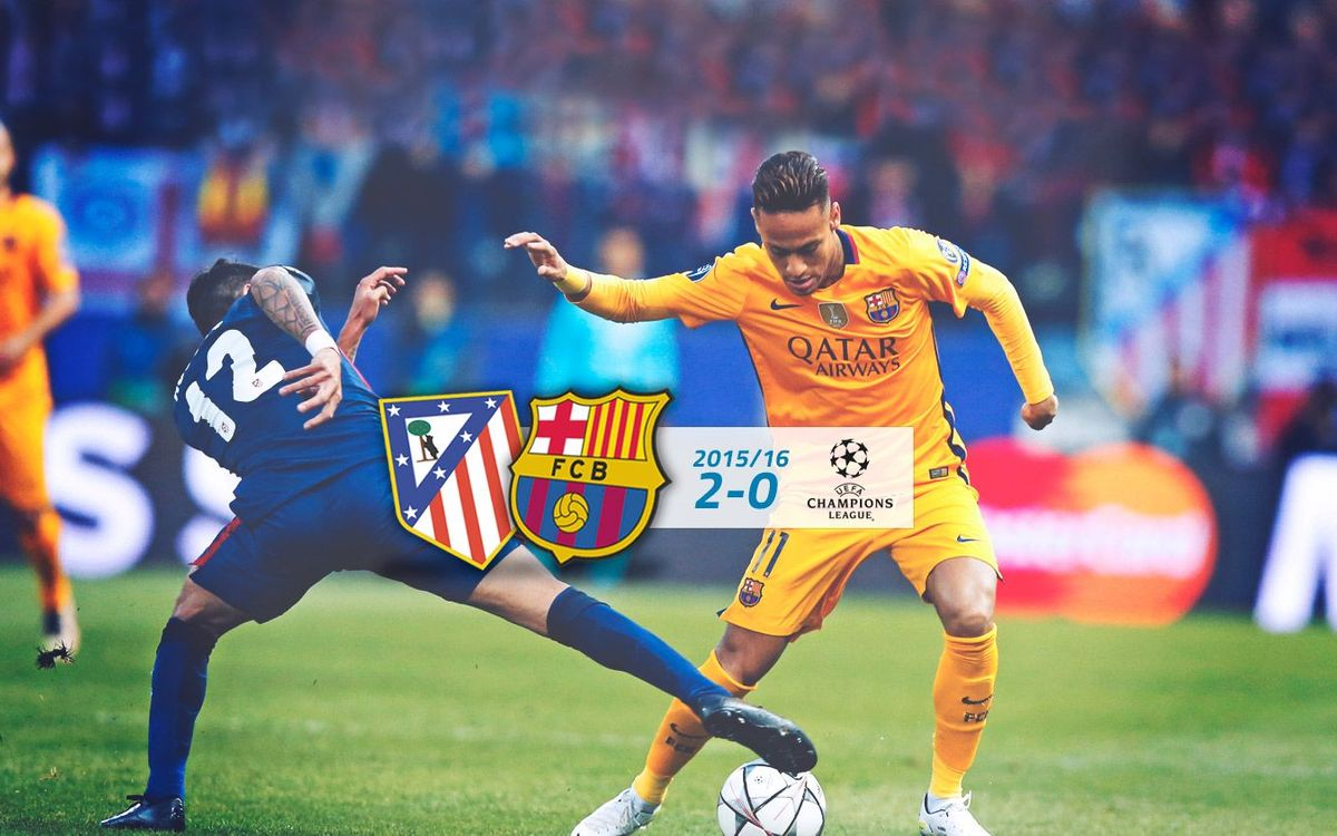 Atlético: 2 - FC Barcelona: 0 (Champions League)