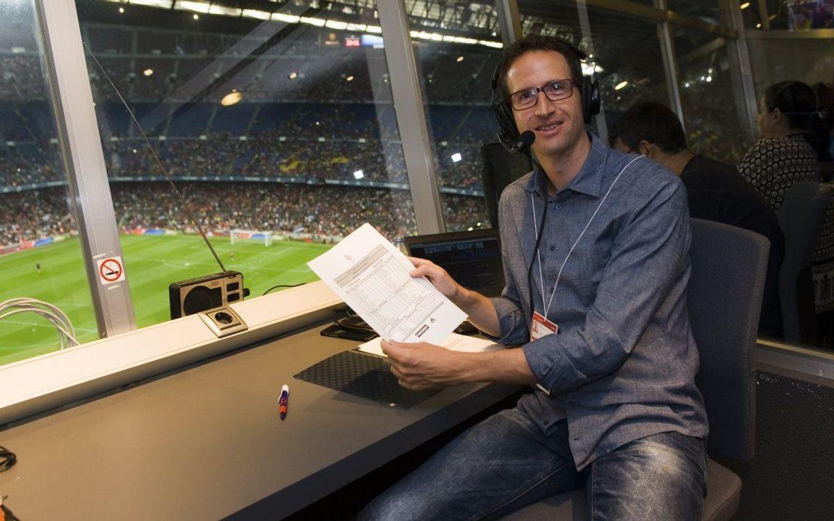 Aleix Santacana s'estrena com a 'speaker' a la tornada de la Supercopa d'Espanya