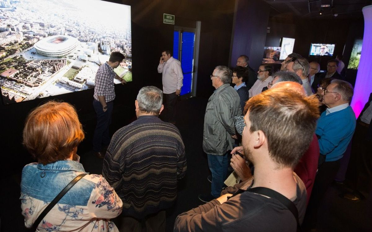 New Camp Nou sparks interest at Espai Barça exhibition