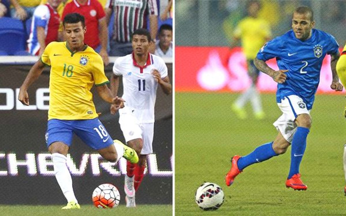 Rafinha and Dani Alves called up to Brazil's Copa América squad