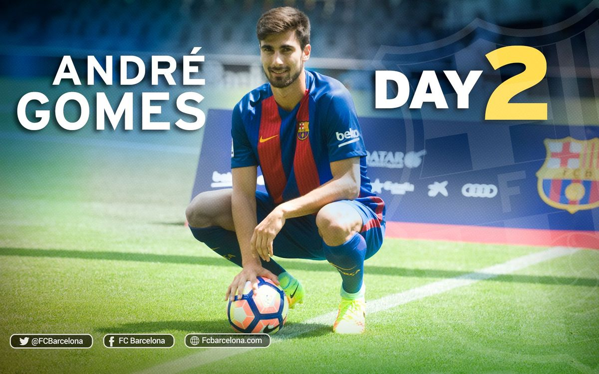 André Gomes' second day at FC Barcelona