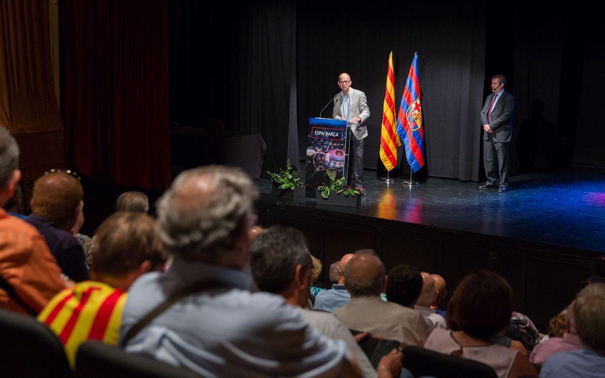 Jordi Cardoner ilusiona a los socios de Sant Boi con el Espai Barça