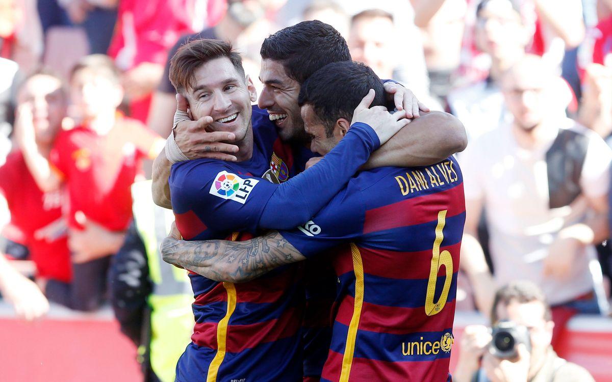 Granada v FC Barcelona: Barça claim La Liga title (0-3)