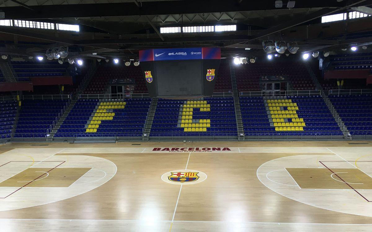 La nova cara del parquet del Palau Blaugrana
