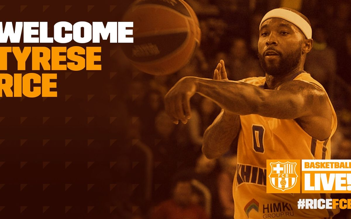 Tyrese Rice signs with Barça Lassa