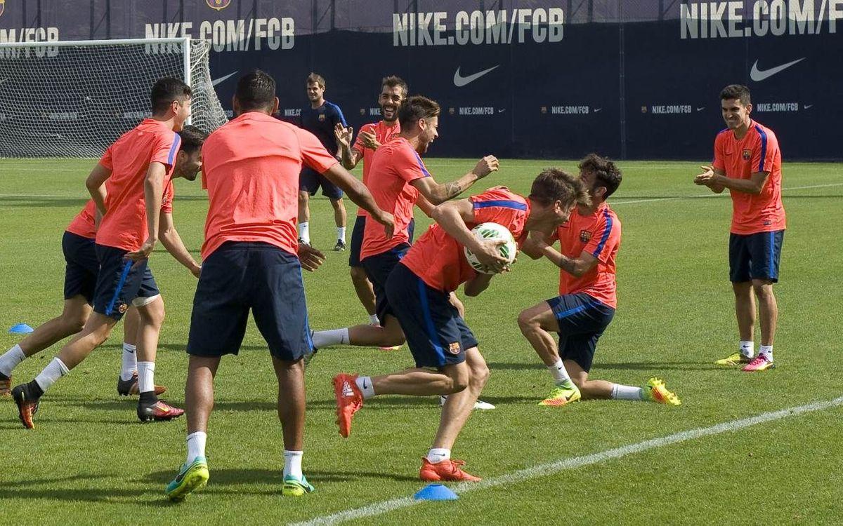El Barça B vuelve al trabajo después de dos días libres