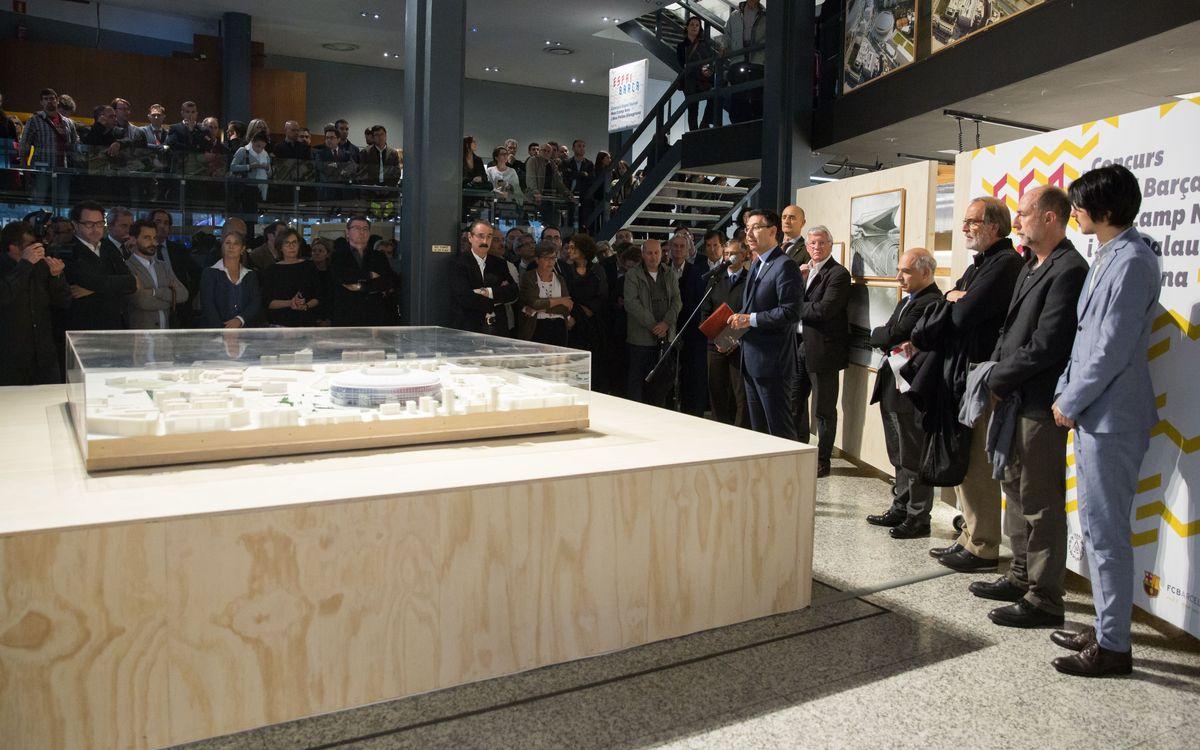 Espai Barça exhibition opens at the Col·legi d'Arquitectes de Catalunya