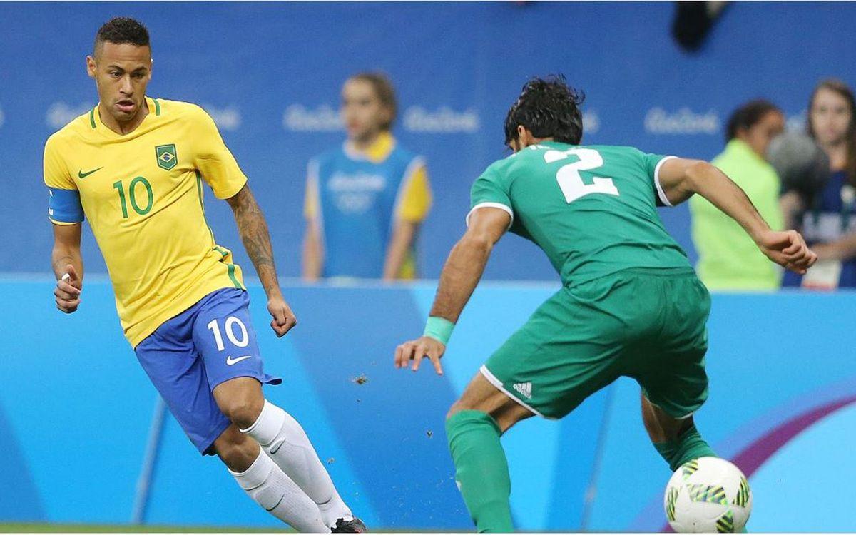 La selección brasileña de Neymar Jr y Rafinha empata con Irak en la segunda jornada de los JJOO (0-0)