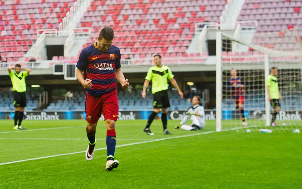 FC Barcelona B v CD Eldense: Happy last fixture at Miniestadi (1-0)