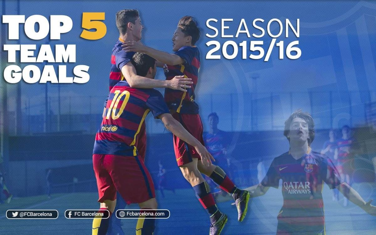 The best team goals of FC Barcelona's youth teams this season