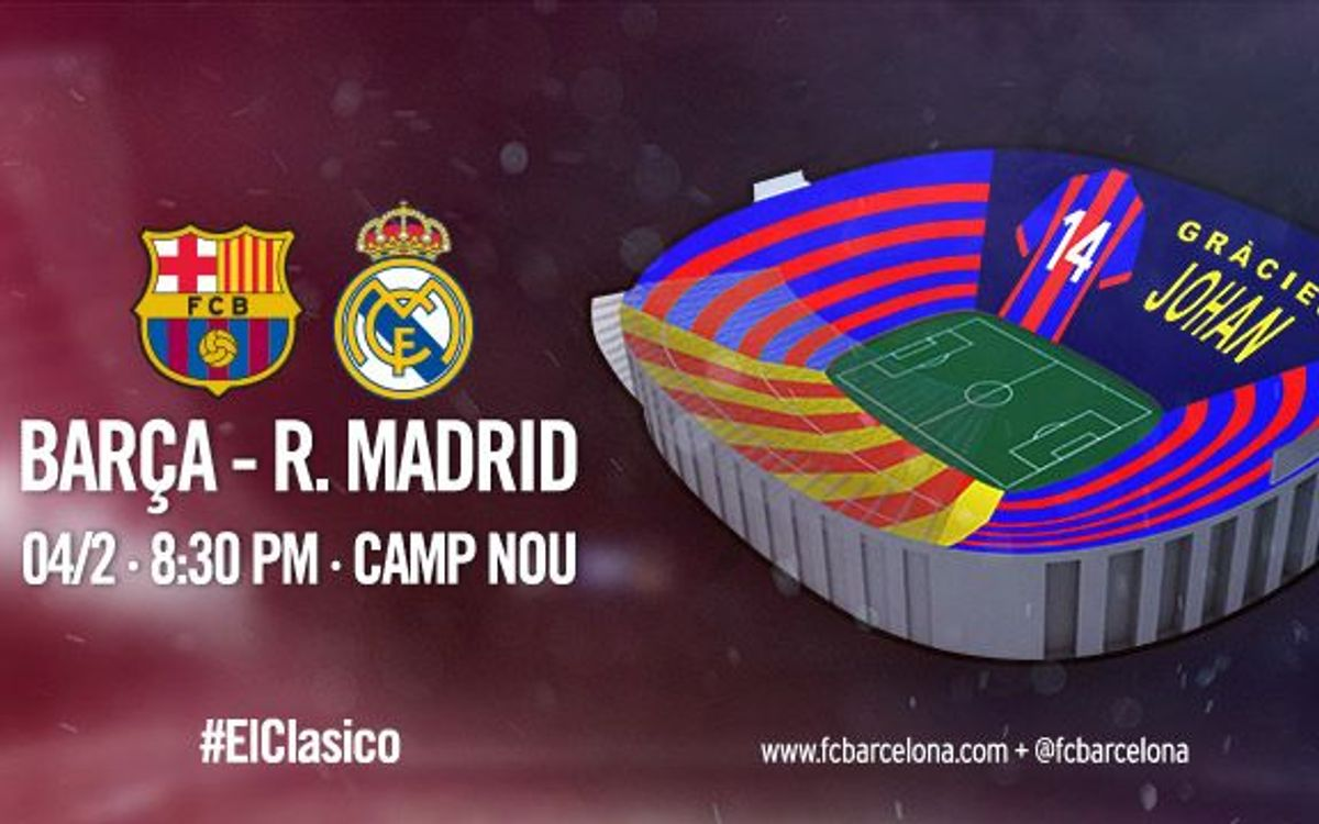 'Gràcies Johan' mosaic planned for FC Barcelona v Real Madrid