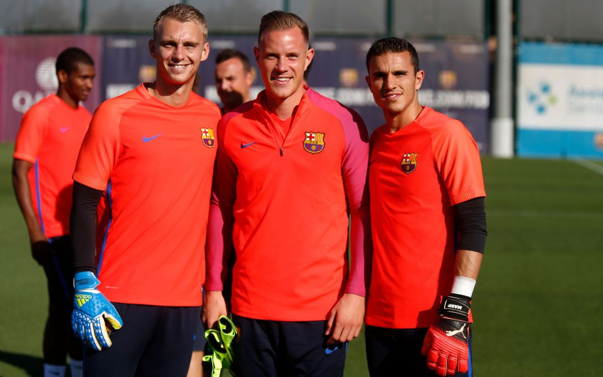 Jasper Cillessen's first training session