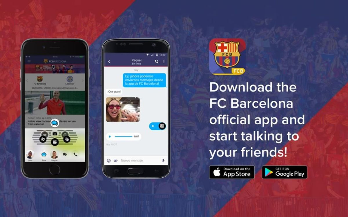 FC Barcelona app updated with new chat