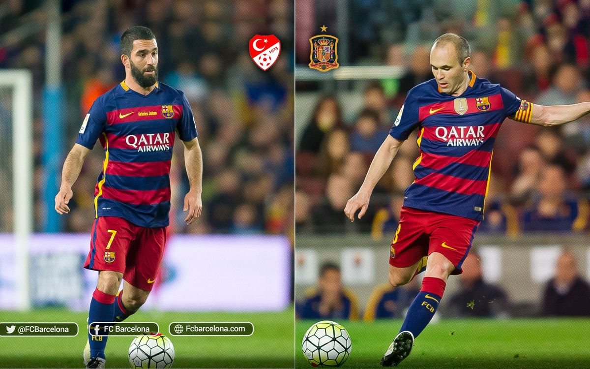 Arda Turan and Andrés Iniesta: Duel of midfield maestros in Nice
