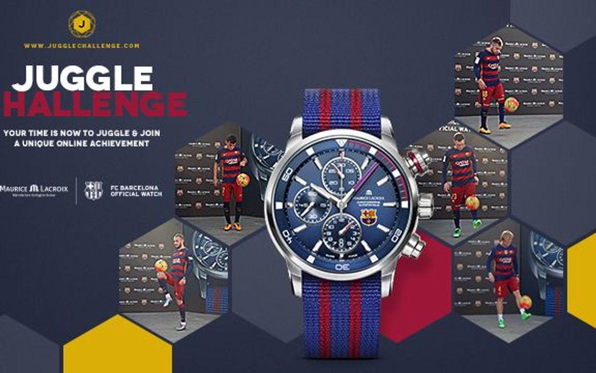 El FC Barcelona i Maurice Lacroix engegen el 'Juggle Challenge'
