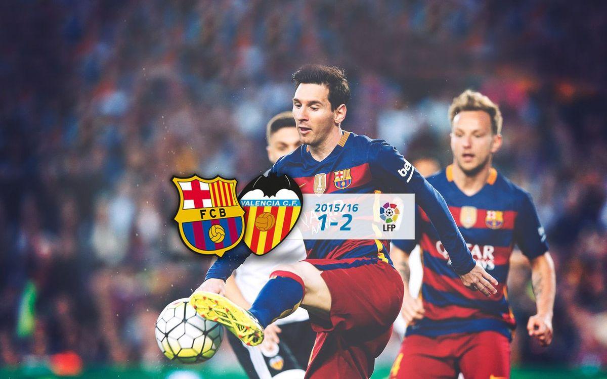 FC Barcelona: 1 - Valencia: 2