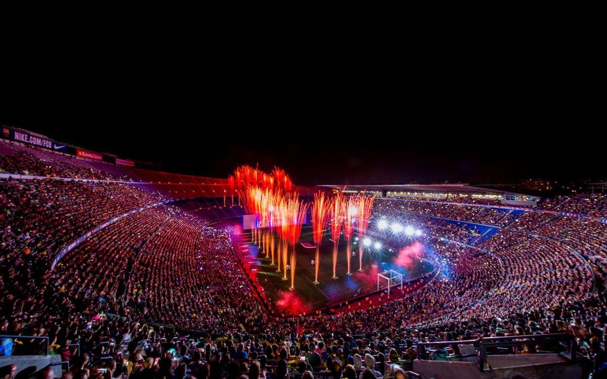 El Camp Nou, el escenario idóneo para actos de gran formato