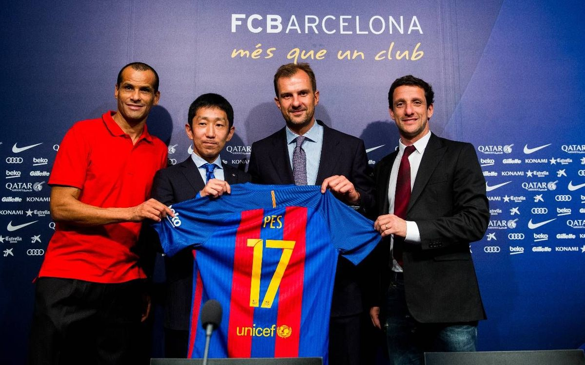 FCバルセロナとコナミ、プレミアムパートナー契約を締結
