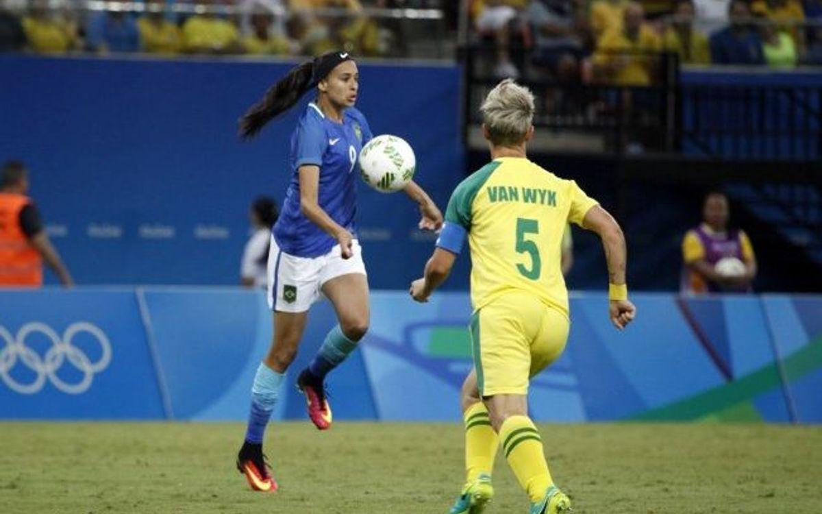 El Brasil d'Andressa Alves, primer de grup (0-0)
