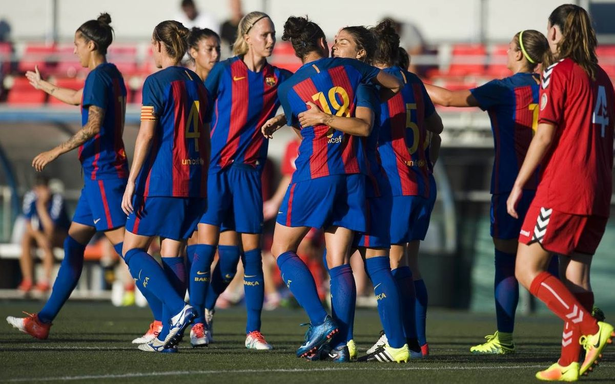 CE Seagull – FC Barcelona Femenino: Goles y buen juego en el estreno de la pretemporada (0-3)