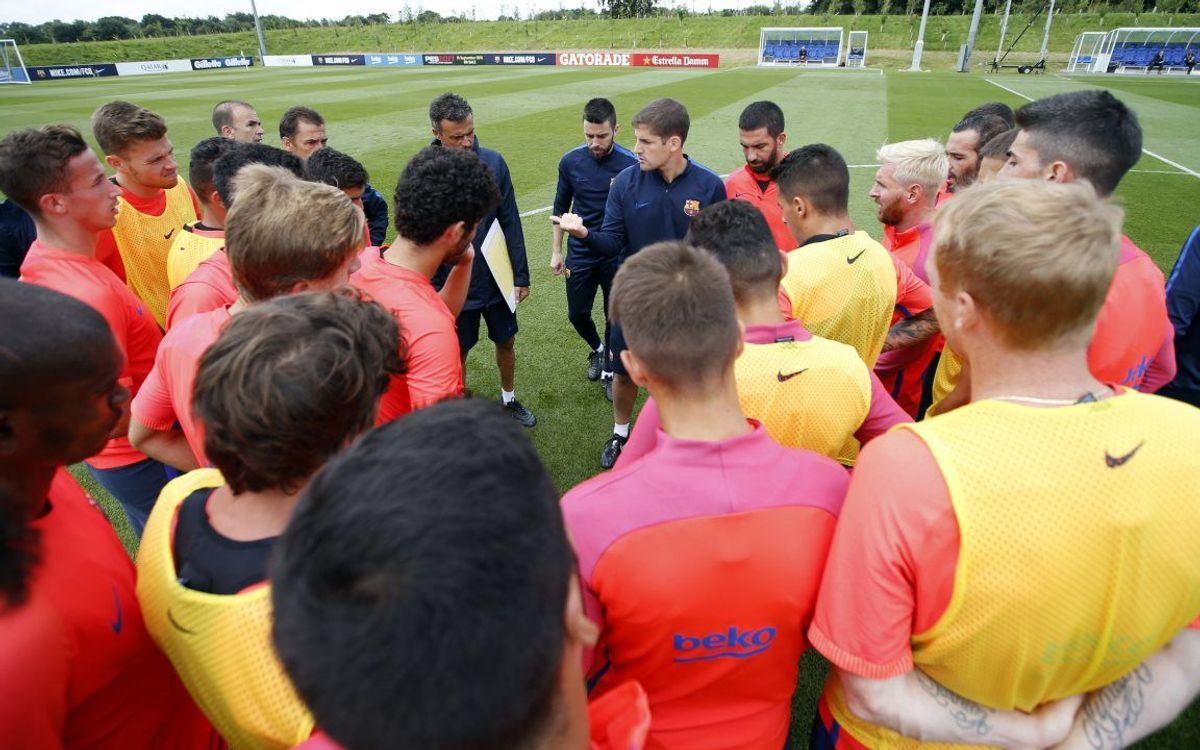 Day 3 of FC Barcelona's training camp in England, from the inside