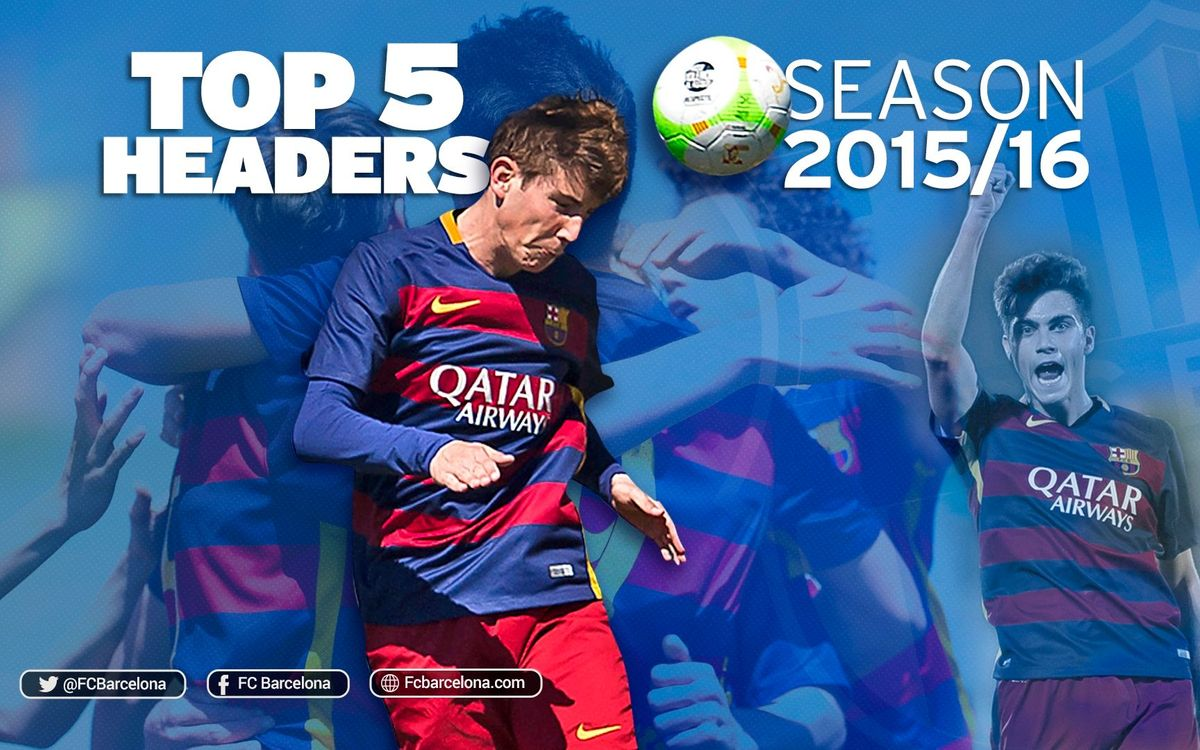 Les cinc millors rematades de cap dels equips formatius del FC Barcelona