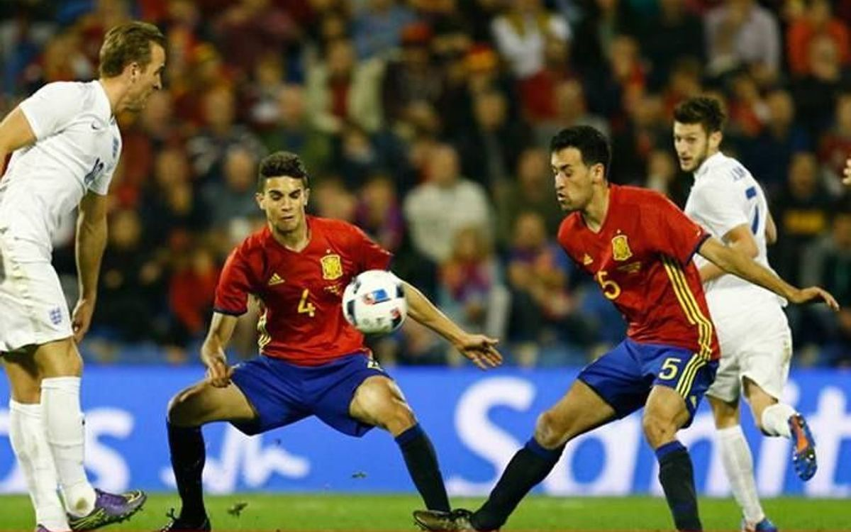 Bartra starts in Spain's 3–1 victory over Bosnia and Herzegovina