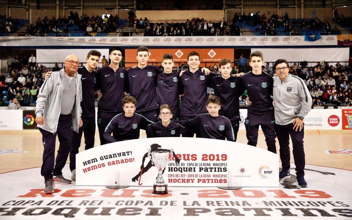 El infantil del hockey patines, campeón de la Minicopa