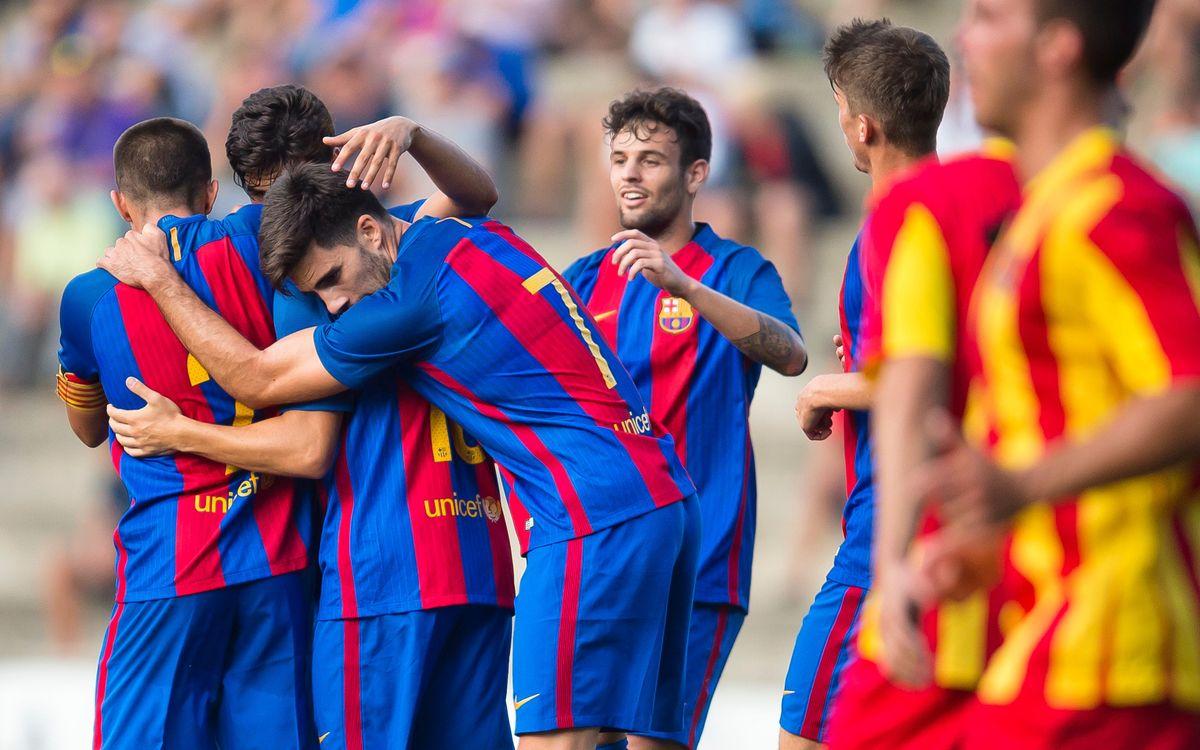 AEC Manlleu v FC Barcelona B: Winning start to Copa Catalunya (1-3)