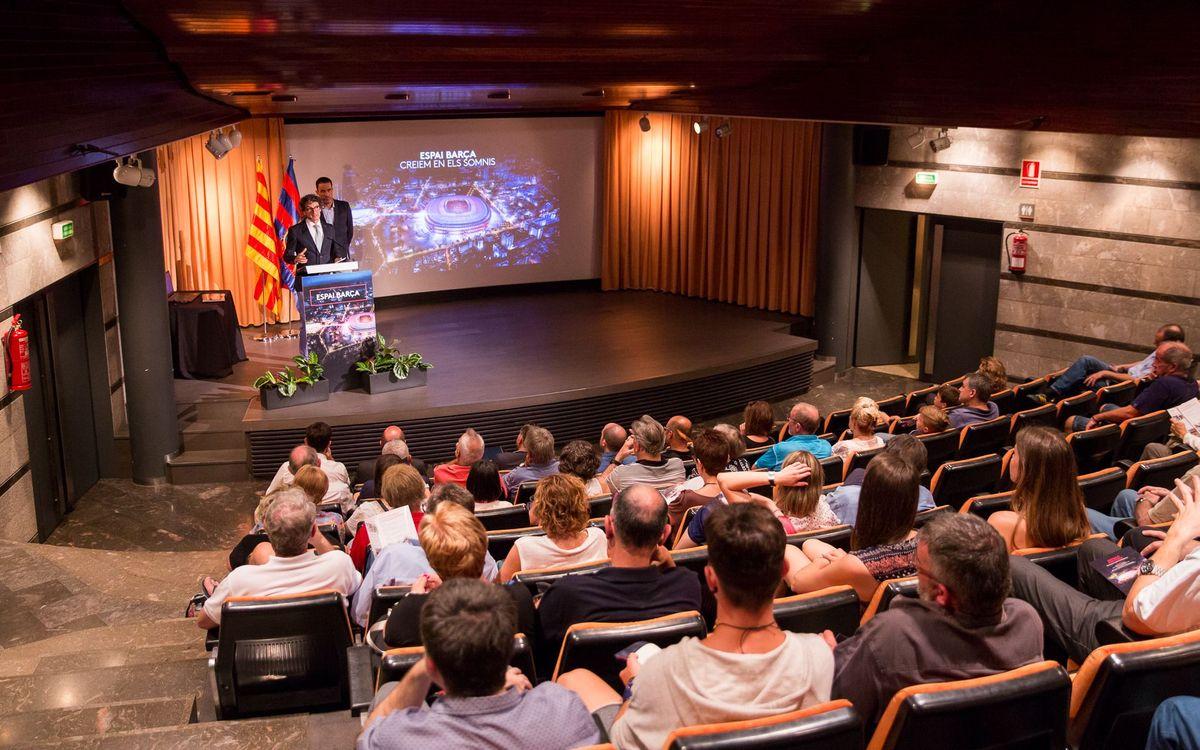 L'Espai Barça s'ha mostrat als socis de Manresa
