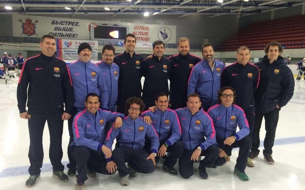 Los veteranos del hockey hielo disputan un torneo en Rusia