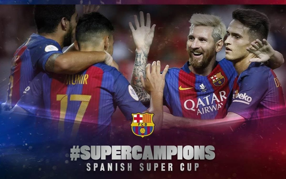 FC Barcelona win 12th Spanish Super Cup