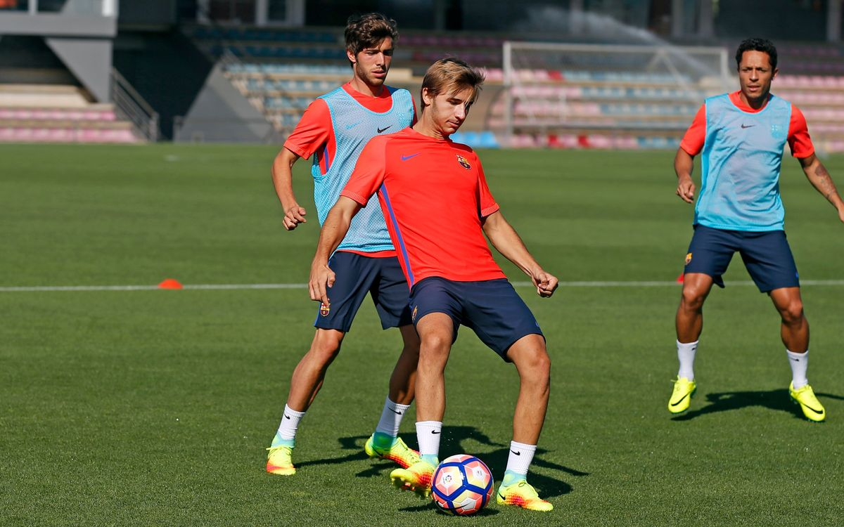 Fourth day of training for FC Barcelona at Ciutat Esportiva