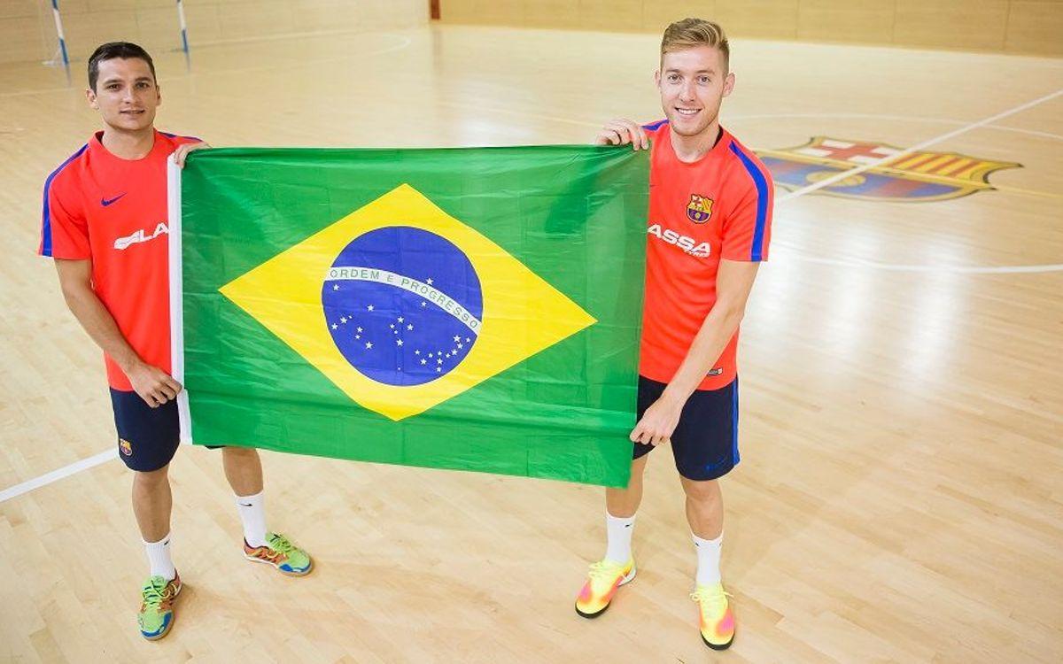 Bateria y Dyego se concentran con Brasil