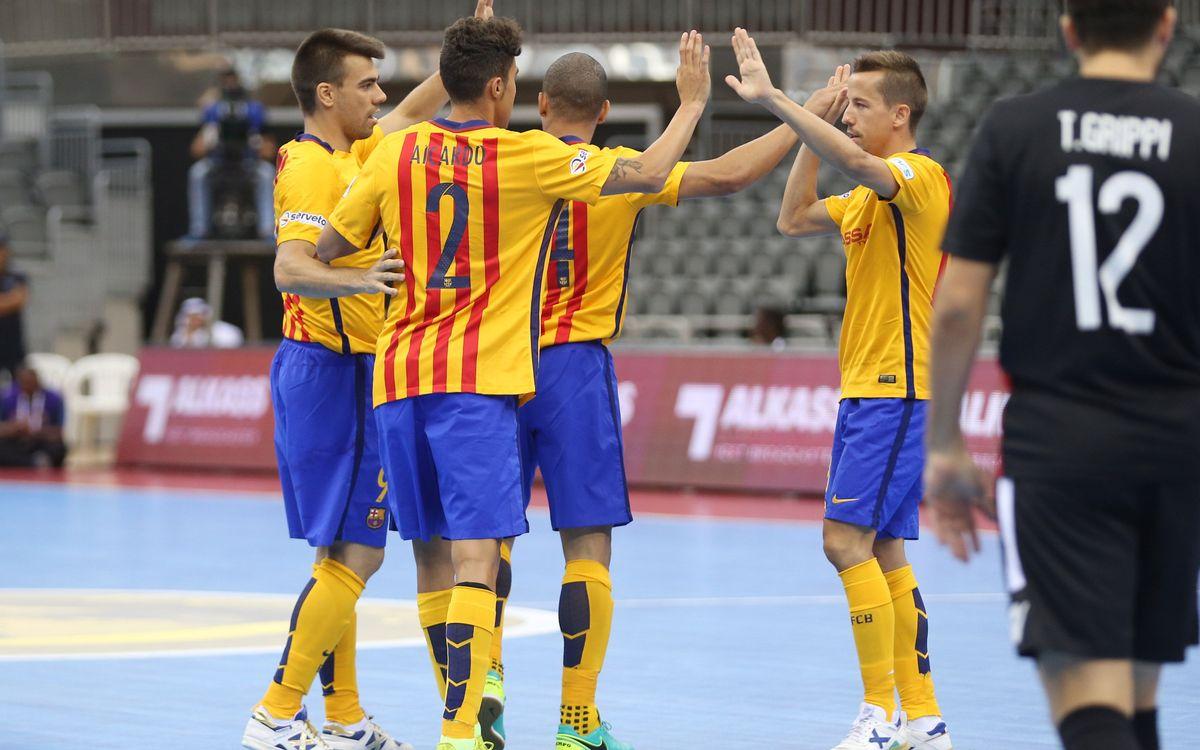 FC Barcelona Lassa v Al Rayyan: Consolation win (6-1)