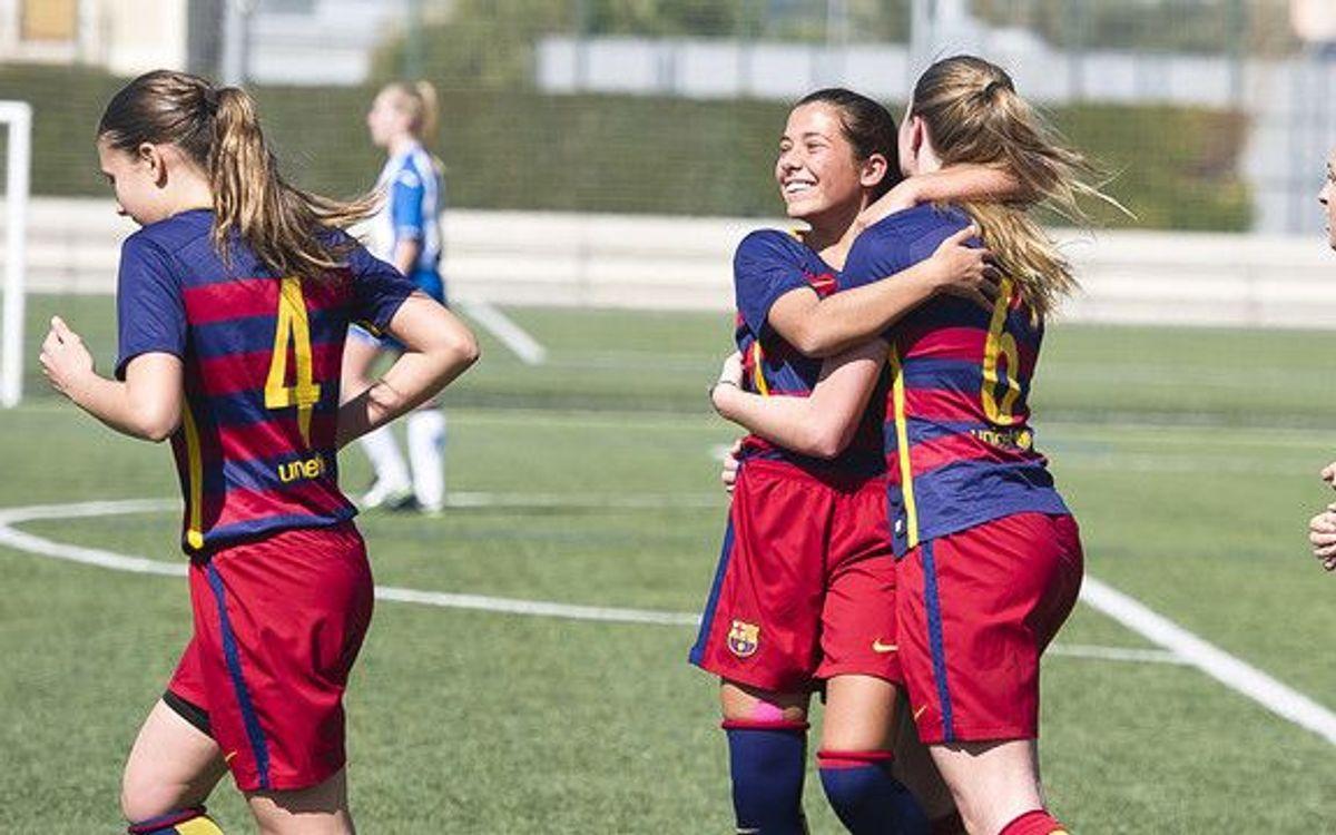 33 gols en 2 partits del planter femení