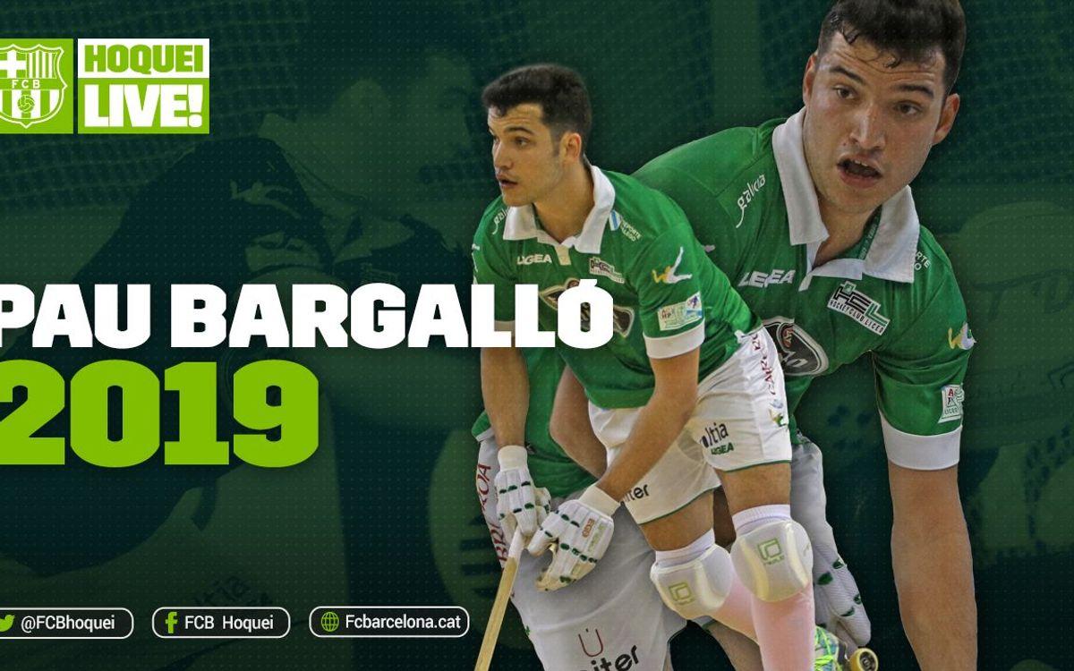 Acord per a la incorporació de Pau Bargalló fins al 2019