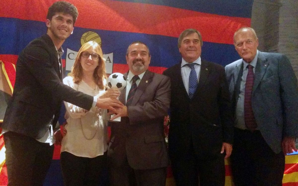 Carles Aleñá, guardonat amb el premi XIV Memorial Mario Munt per la PB Solera de Calella