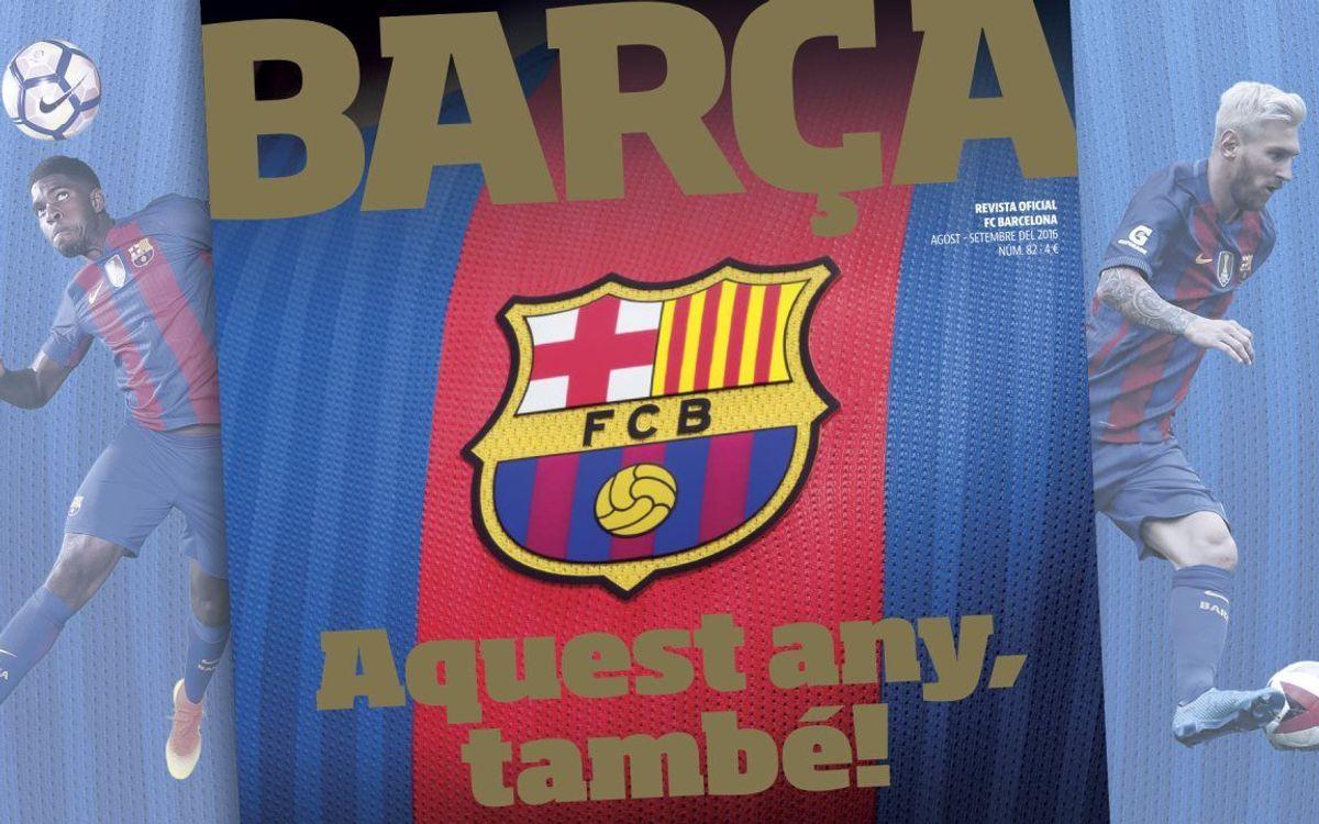 La tercera temporada de Luis Enrique, protagonista de la 'Revista Barça'