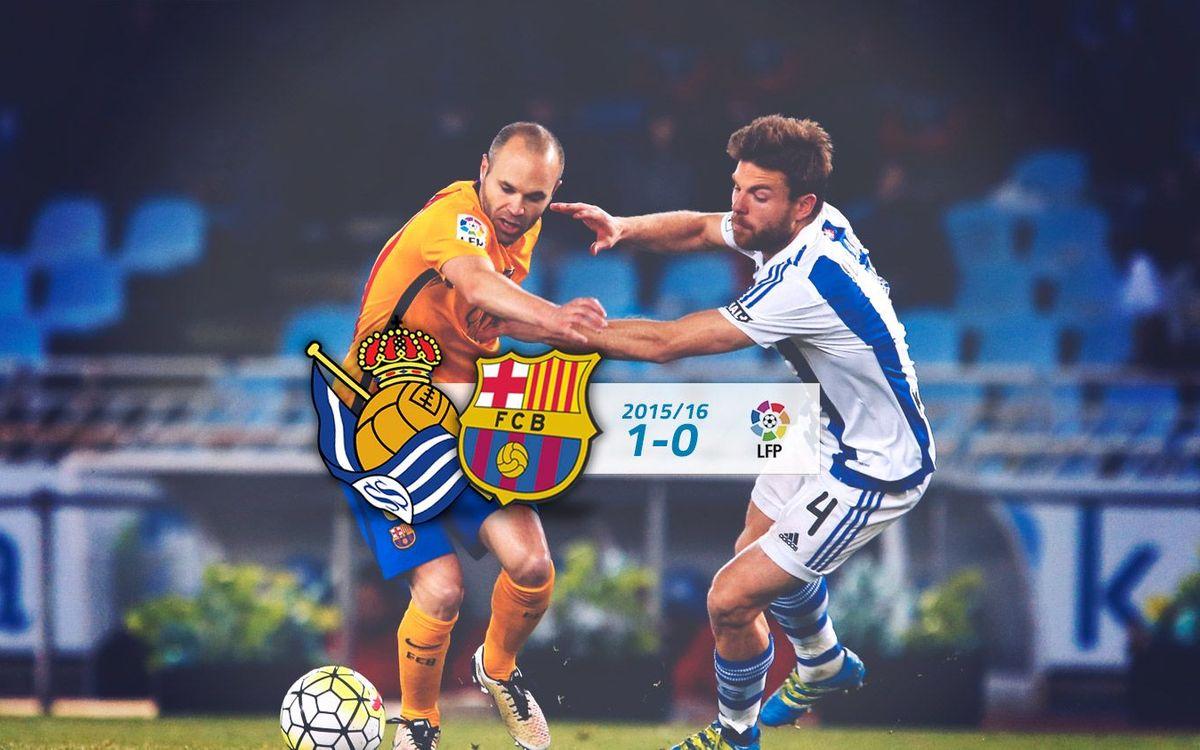 Reial Societat: 1 - FC Barcelona: 0