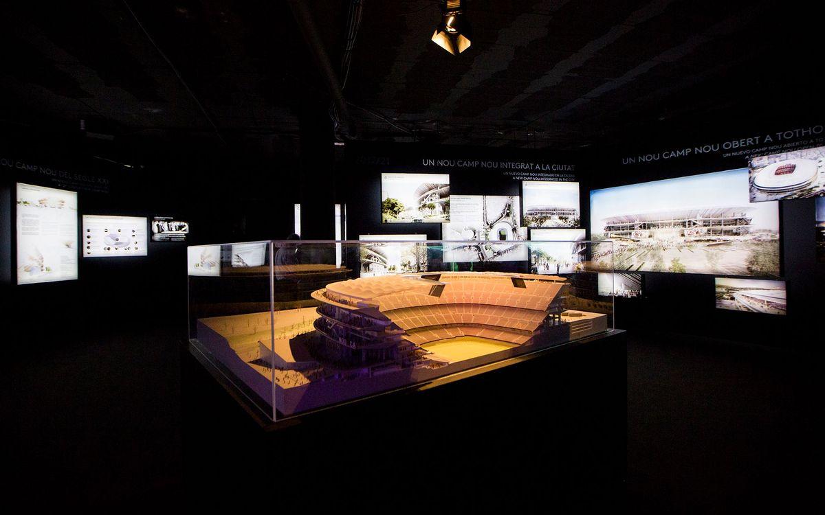 Exposició 'Concurs Espai Barça: Nou Camp Nou i Nou Palau Blaugrana', al Col·legi d'Arquitectes de Catalunya