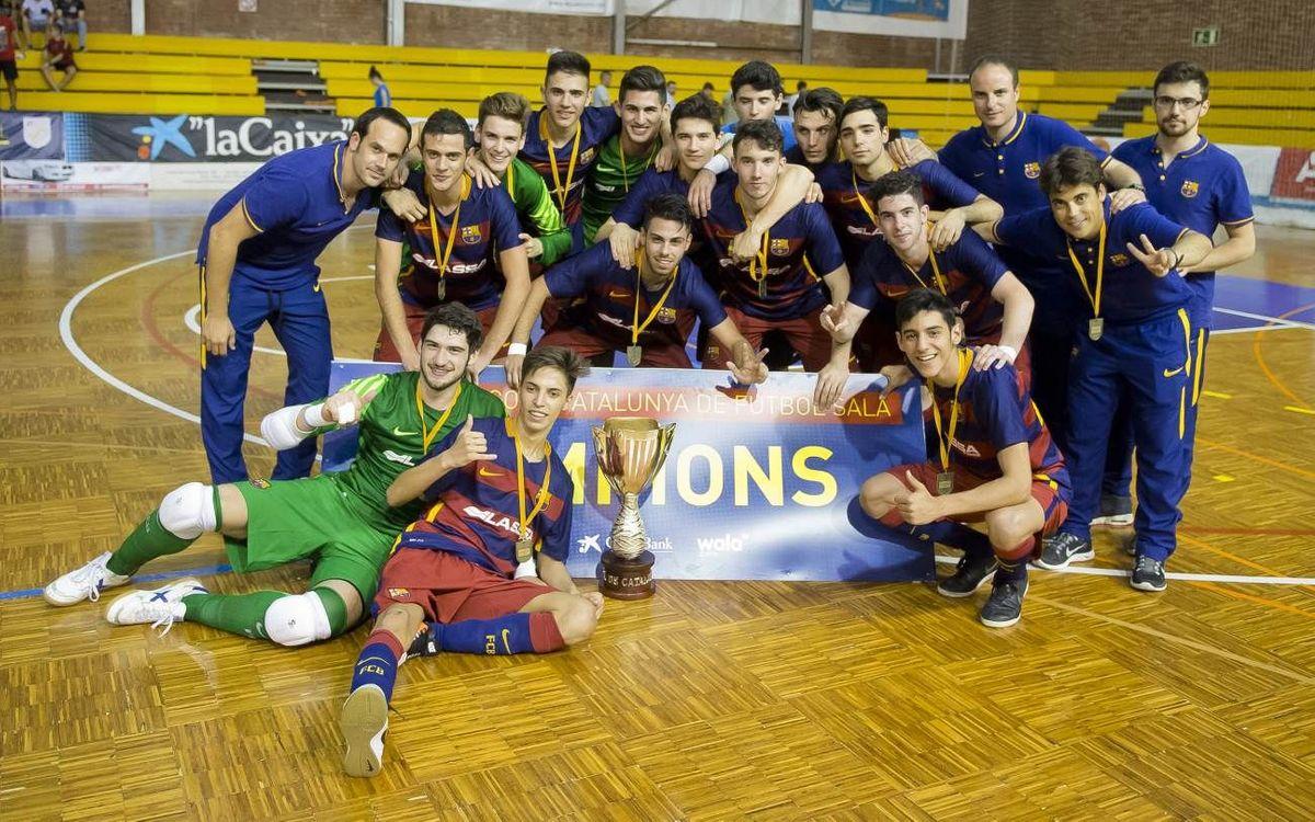 El Juvenil i l'Aleví es proclamen campions de Catalunya
