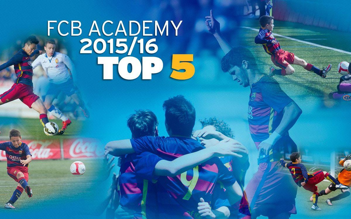 Els cinc millors gols del futbol formatiu del FC Barcelona d'aquesta temporada